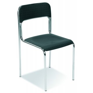 Krzesło z oparciem CORTINA ALU czarny NOWY STYL