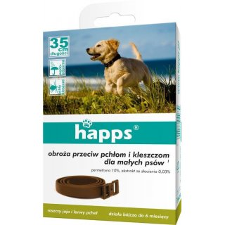 Obroża przeciw pchłom i kleszczom dla małych psów HAPPS