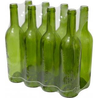 Butelka na wino 0,75l - zgrzewka 8szt. - oliwkowa BROWIN