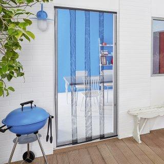 Moskitiera na drzwi balkonowe lamela 2,2m x 0,95m, czarna TESA