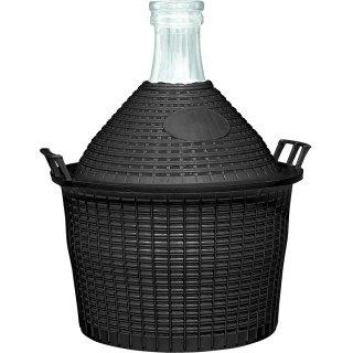 Balon do wina 5l w koszu plastikowym o57/40 mm BROWIN