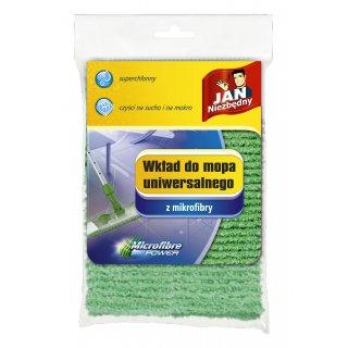 Wkład do mopa z mikrofibry zielony JAN NIEZBĘDNY