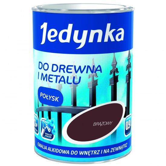 Farba do drewna i metalu Jedynka 0,9L brązowy TIKKURILA