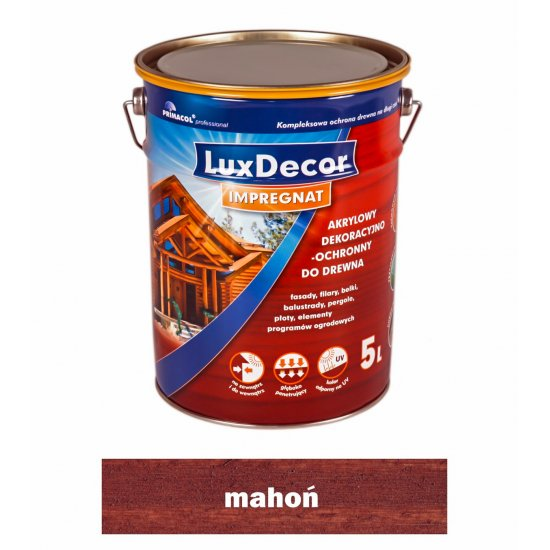 Imregnat do drewna Luxdecor mahoń 5l PRIMACOL