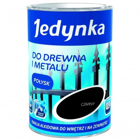 Farba do drewna i metalu Jedynka 0,9L czarny TIKKURILA