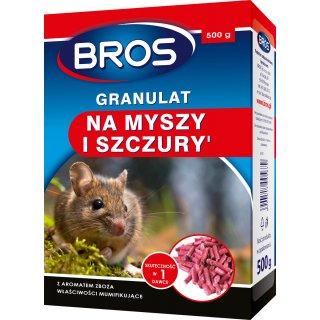 Trutka na myszy i szczury w granulkach 0,5 kg BROS