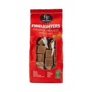 Podpałka do grilli, pieców i ognisk 72 kostki FIREFAMILLY