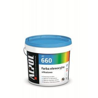 ALPOL AF660 Farba elewacyjna silikatowa BAZA B7 10l