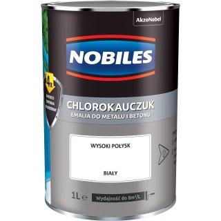 Farba do betonu i metalu chlorokauczuk biały 1L NOBILES