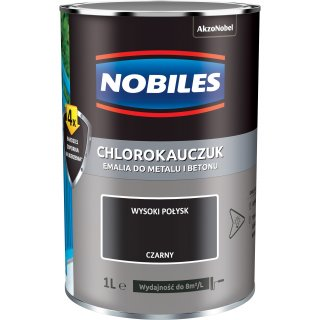 Farba do betonu i metalu chlorokauczuk czarny 1L NOBILES