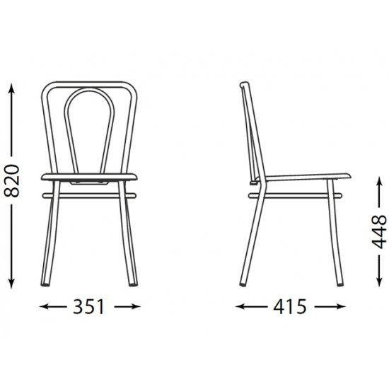 Krzesło kuchenne kolor buk malia alu NOWY STYL