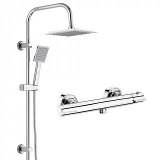 Zestaw prysznicowy deszczownica + bateria termostatyczna DEANTE