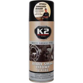 Biały smar litowy z PTFE 400ml K2 PROFAST
