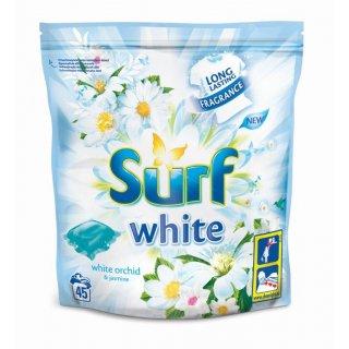 Kapsułki do prania 45 sztuk White SURF