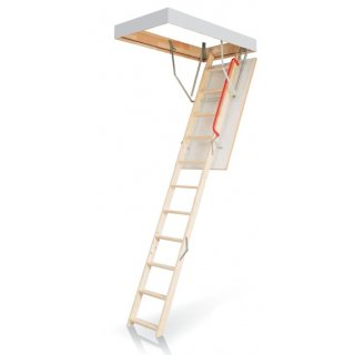 Schody strychowe OptiStep OLE 60x120 cm klapa biała poręcz