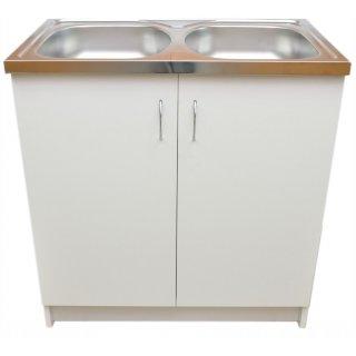 Szafka kuchenna pod zlewozmywak 80x50 biała