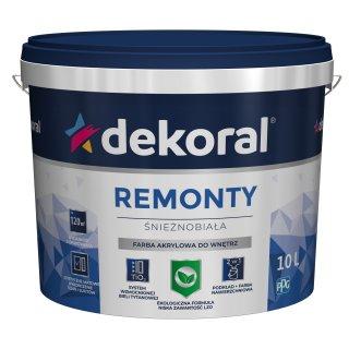 Akrylowa farba do ścian i sufitów biała 10l DEKORAL
