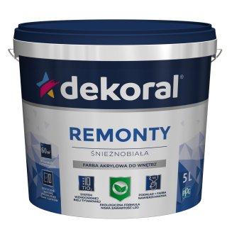 Akrylowa farba do ścian i sufitów biała 5l DEKORAL