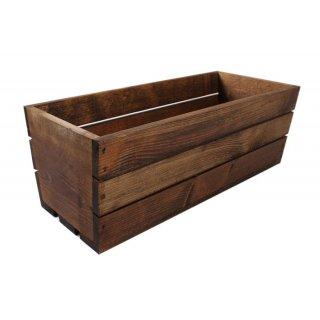 Skrzynka drewniana brązowa balkonówka 40x18x15 cm TIN TOURS