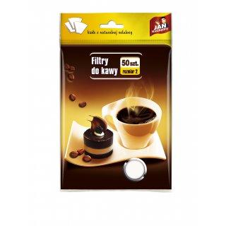 Filtry do kawy 50 szt. rozmiar 2 JAN NIEZBĘDNY