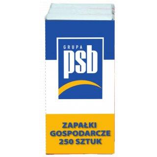 Zapałki Gospodarcze paczka 3x250szt PSB