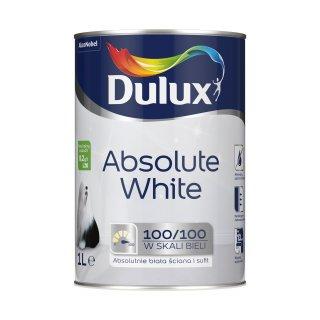 Farba Absolute White do ścian sufitów biały 1 L Dulux AKZO
