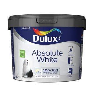 Farba Absolute White do ścian sufitów biały 9 L Dulux