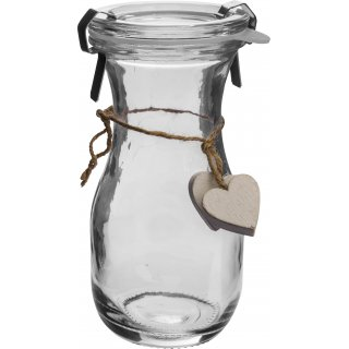 Butelka od serca -biała z zamknięciem 250ml BROWIN
