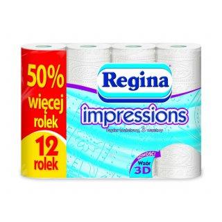 Papier toaletowy REGINA IMPRESSIONS biały 12 szt