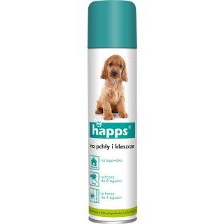 Preparat na pchły i kleszcze dla psa w sprayu 250 ml HAPPS
