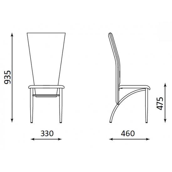 Krzesło tapicerowane OTELLO brąz NOWY STYL