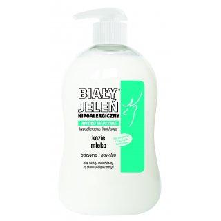 Mydło w płynie BIAŁY JELEŃ PREMIUM z kozim mlekiem 300 ml
