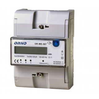 3-fazowy wskaźnik zużycia energii elektrycznej 3x20 (120)A