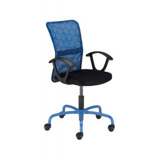 Krzesło obrotowe tapicerowane niebieskie ARTUS NOWY STYL
