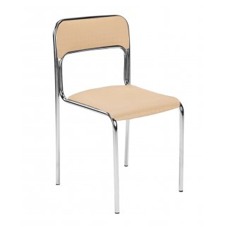 Krzesło z oparciem CORTINA ALU beż NOWY STYL