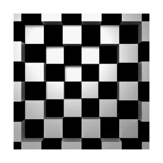 Fototapeta 3D Black&White kwadraty 254 x 366 cm POLAMI