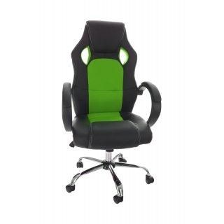 Fotel gracza obrotowy zielono-czarny race stell NOWY STYL