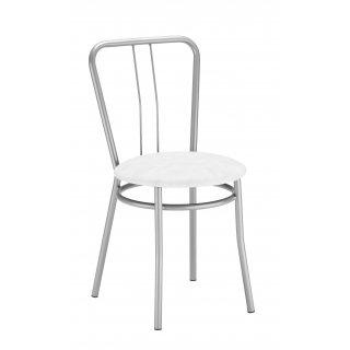 Krzesło kuchenne kolor biały ALBA ALU NOWY STYL