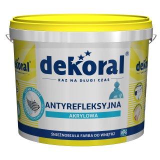 Antyrefleksyjna farba akrylowa Polinak Plus 10 L DEKORAL