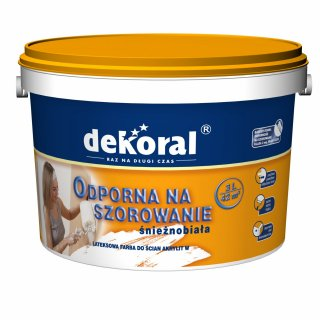 Farba do ścian i sufitów śnieżnobiały 3l DEKORAL