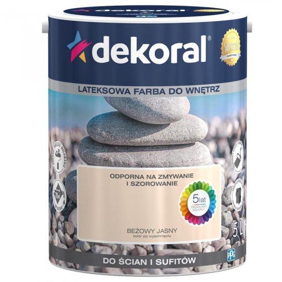 Farba do ścian i sufitów beżowy jasny 5l DEKORAL