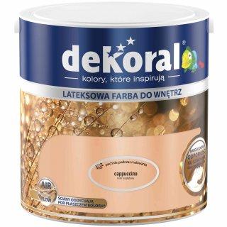 Farba do ścian i sufitów cappuccino 2,5l DEKORAL