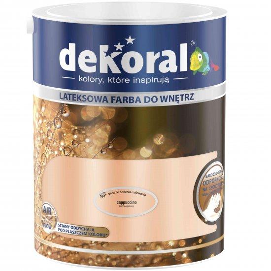 Farba do ścian i sufitów cappuccino 5l DEKORAL