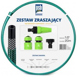 "Zestaw 11-250 PSB wąż 1/2"" 20 mb. + końcówki, paleta 99 szt, warstwa 11szt."