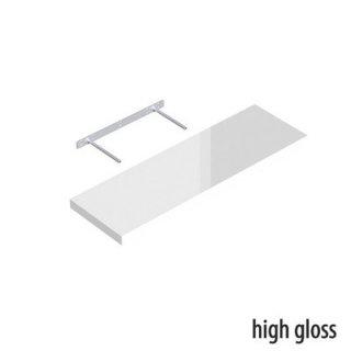 Półka samowisząca biała połysk 79,5x23,5 cm VELANO
