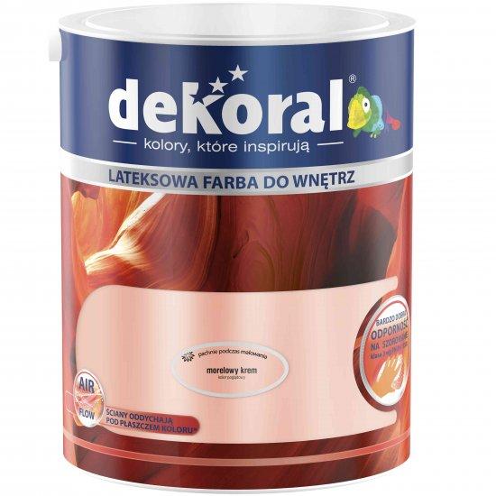 Farba do ścian i sufitów morelowy krem 5l DEKORAL
