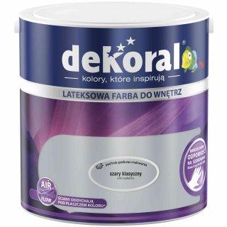 Farba do ścian i sufitów szary klasyczny 2,5l DEKORAL
