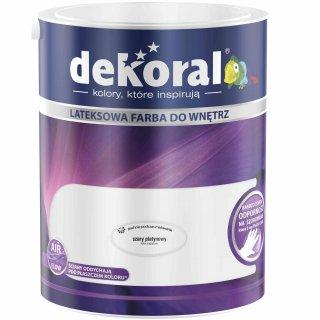 Farba do ścian i sufitów szary platynowy 5l DEKORAL
