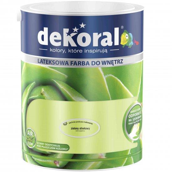 Farba do ścian i sufitów zielony oliwkowy 5l DEKORAL