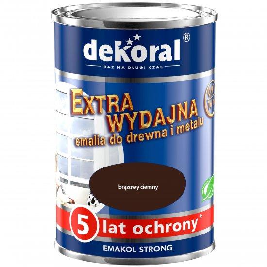 Emalia ftalowa EMAKOL STRONG brązowy ciemny 0,9l DEKORAL